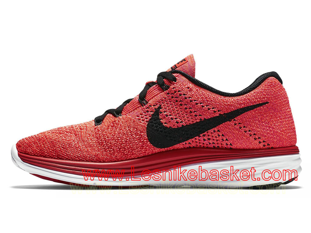 ... Basket Homme Nike Flyknit Lunar 3 University Red 698181_602 ...