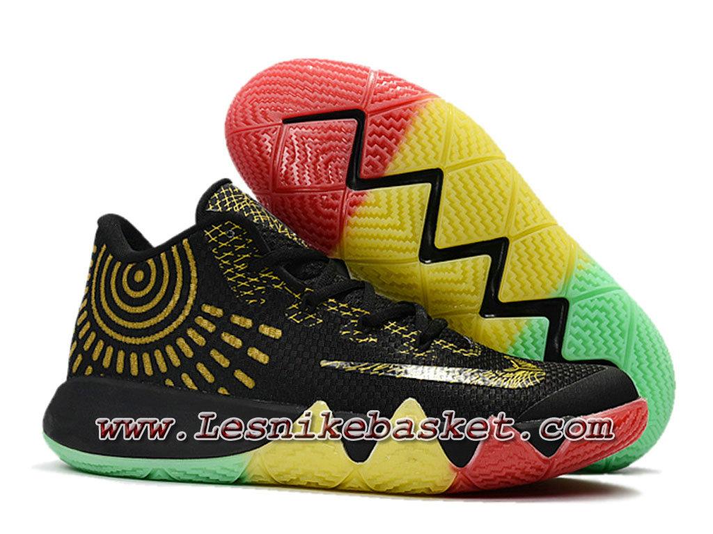 the best attitude 17d4e 75a6e ... Basket Nike Kyrie 4 BHM Noires Or Chausport Officiel NIke Prix Pour  HOmme ...