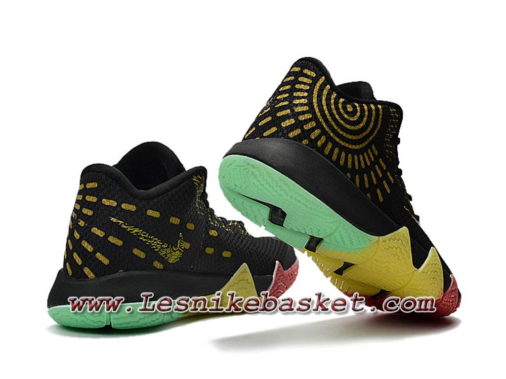 best sneakers 9b50b 6e3f9 ... Basket Nike Kyrie 4 BHM Noires Or Chausport Officiel NIke Prix Pour  HOmme