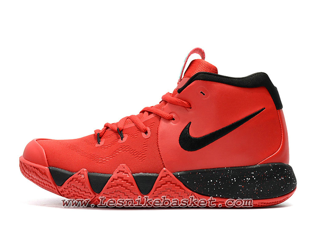 89dbca5ee2bd Basket Nike Kyrie 4 Rouge Noires Chaussures nike Kyrie pas cher Pour Homme  ...