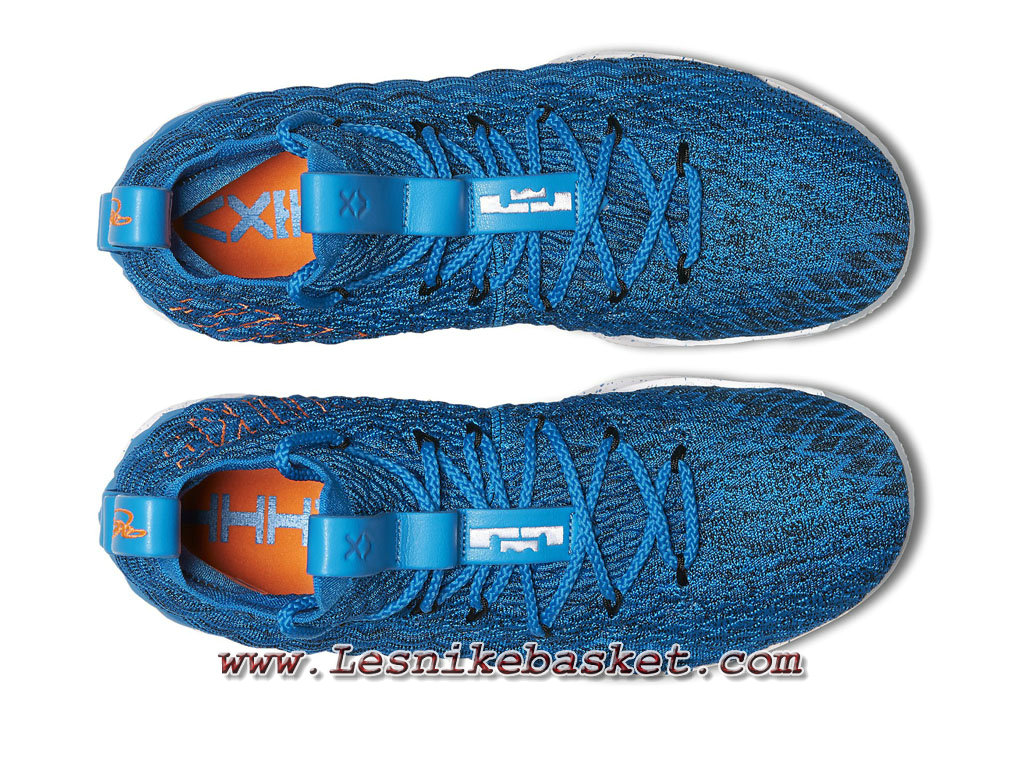 1c013dd4cb545 ... Basket Nike LeBron 15 Hardwood Classics 897648_400 Chaussures Nike Pas  che Pour Homme Bleu ...