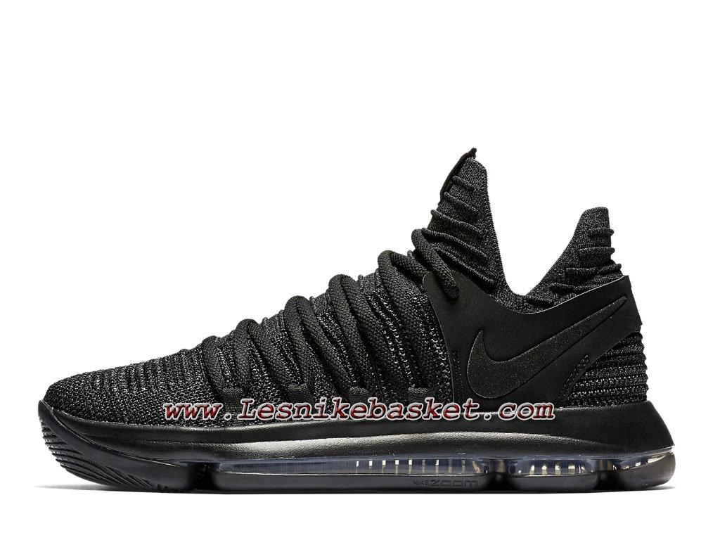 premium selection 53cff 54a40 Basket Nike Zoom KD 10 Triple Black 897815 004 Chaussures officiel Nike  Pour Homme ...