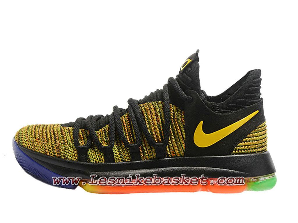 Basket NikeID Zoom Kd 10 JauneNoires Chaussures Nike Solde