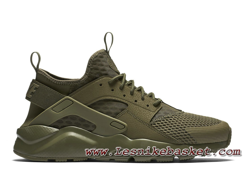 new concept 4711e 9c01a Homme Nike Air Huarache Ultra Breathe Medium Olive Vert 833147 200 Running  Nike Urh ...