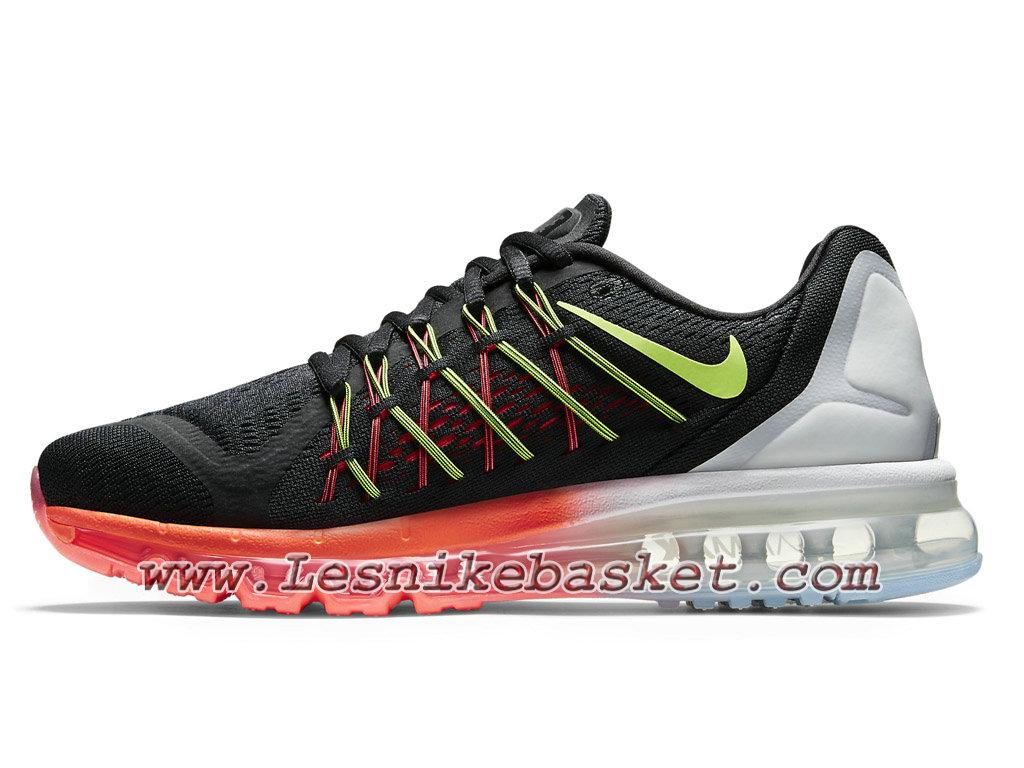... Nike Air Max 2015 698902 007 Black Neon White Chaussures Nike pas Cher  Pour Homme Noir  ... 793b0e0760e0