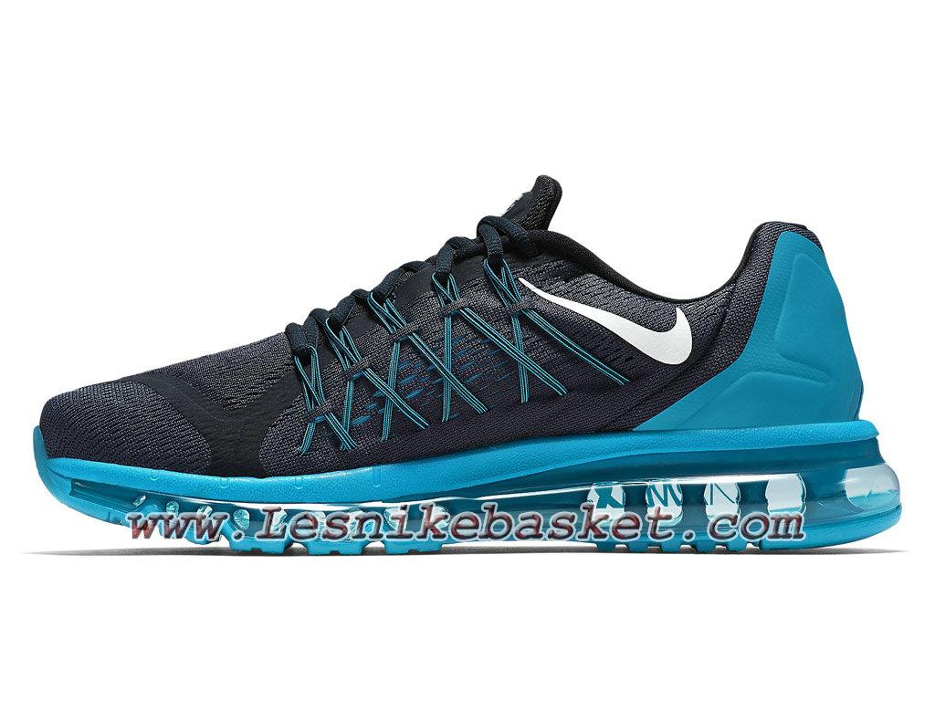 ... Nike Air Max 2015 698902_402 Bleu/Noir Chaussures Nike prix Pour Homme ...