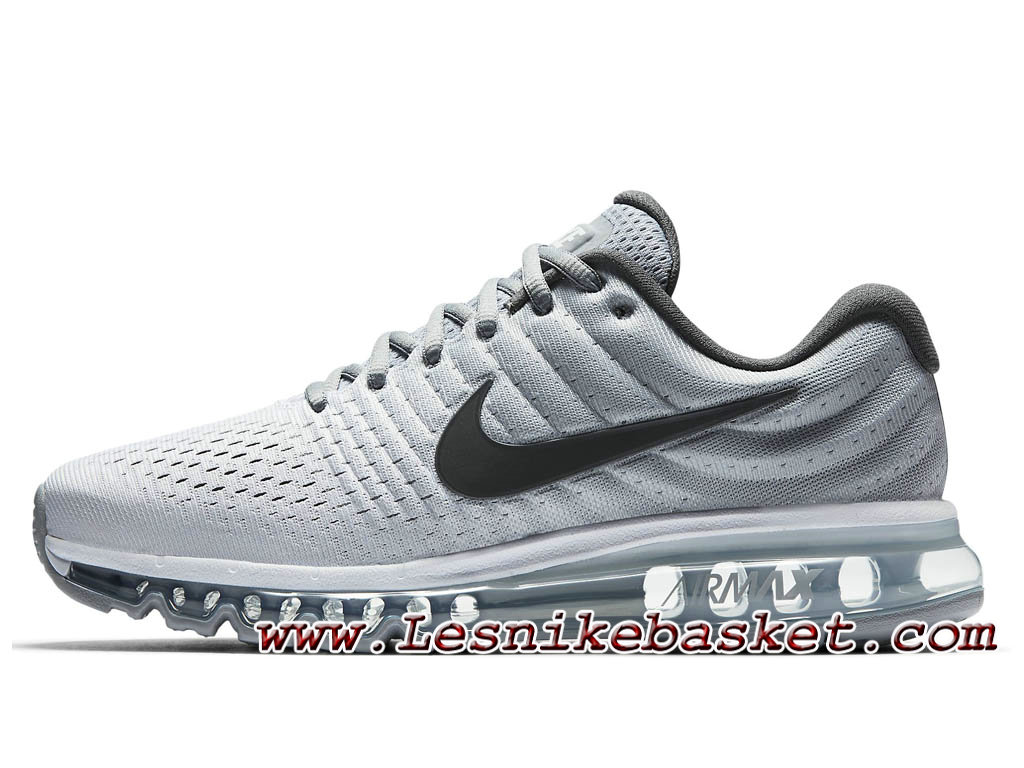 separation shoes 94471 60f79 Nike Air Max 2017 Blanc Gris loup 849559 101 Chaussures Nike Pas cher Pour  Homme ...