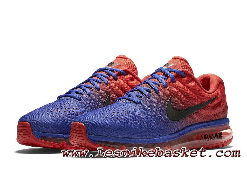 ... Nike Air Max 2017 Bleu souverain/Orange 849559_402 Chaussures Nike Pas cher Pour Homme ...