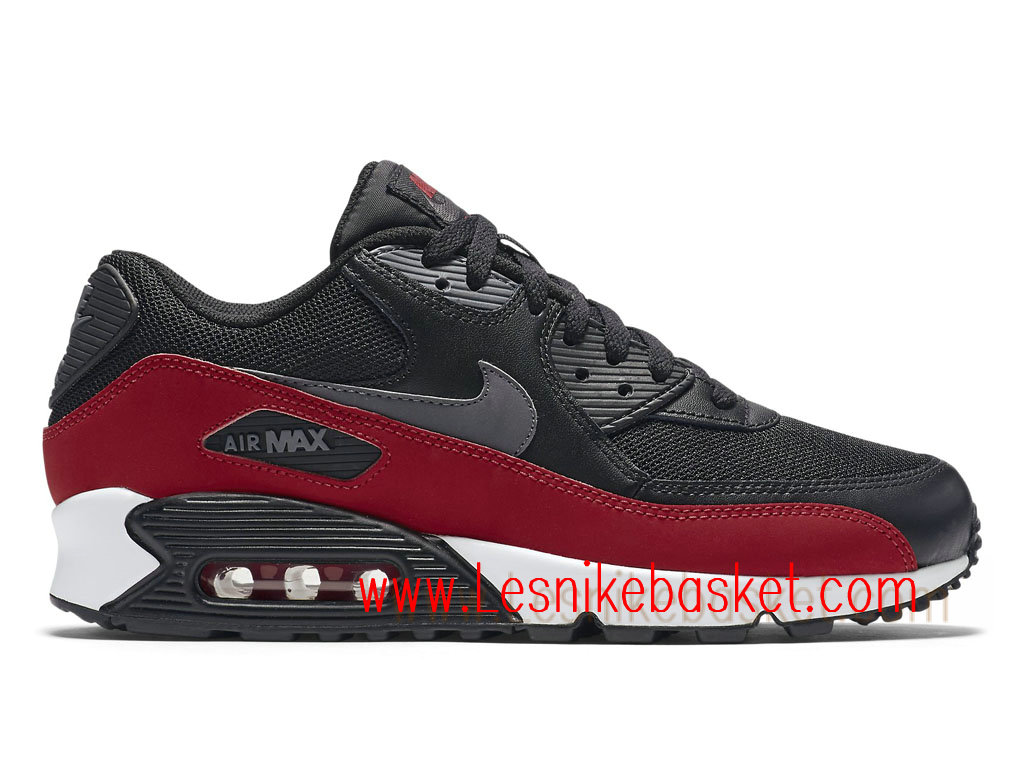 Nike Air Max 90 Essential Black Grey University Red 537384 062