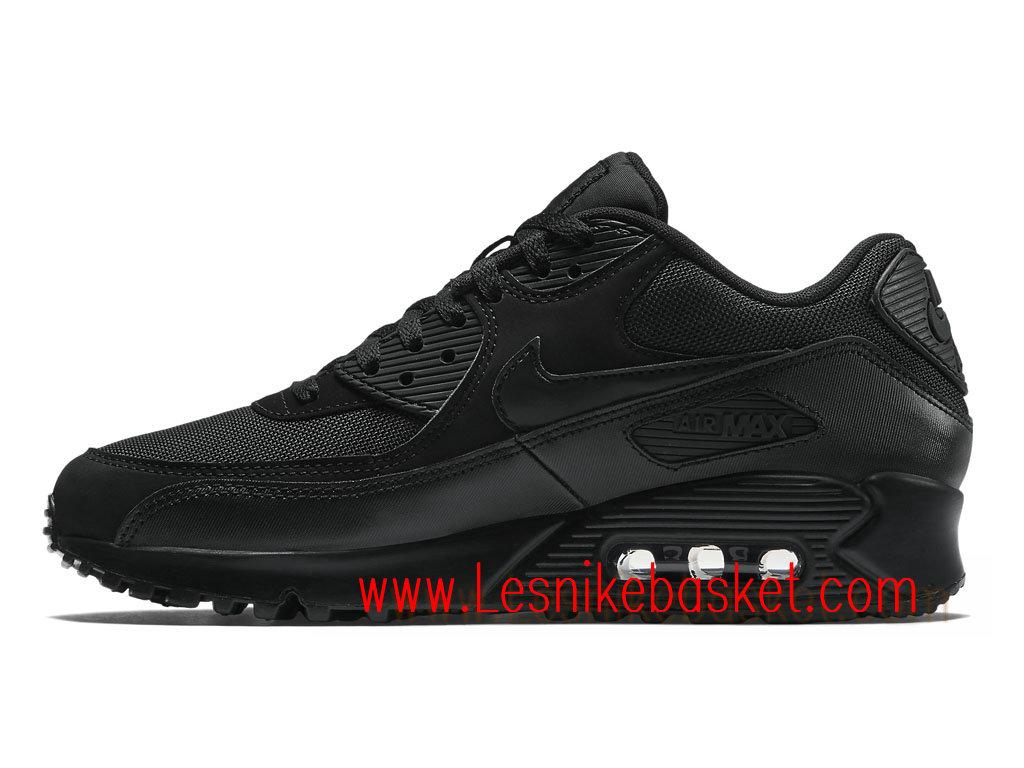 premium selection f9108 d0d57 Nike Air Max 90 Essential Noir Noir 537384 090 Chaussures Officiel Nike  Pour Homme ...
