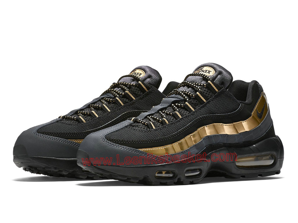 ... Nike Air Max 95 Bronze 538416_007 Chaussures Officiel Nike Pour Homme Noir/Or ...