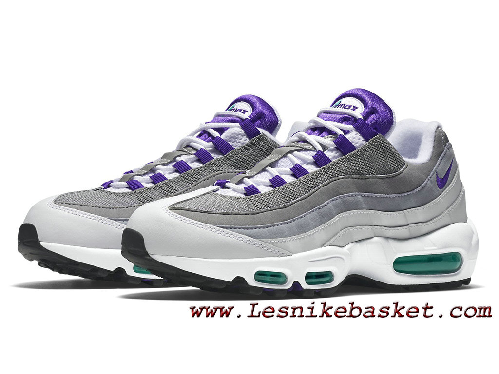 ... Nike Air Max 95 OG White Grape Grey 554970_151 Chaussures Nike Prix Pour HOmme Gris ...