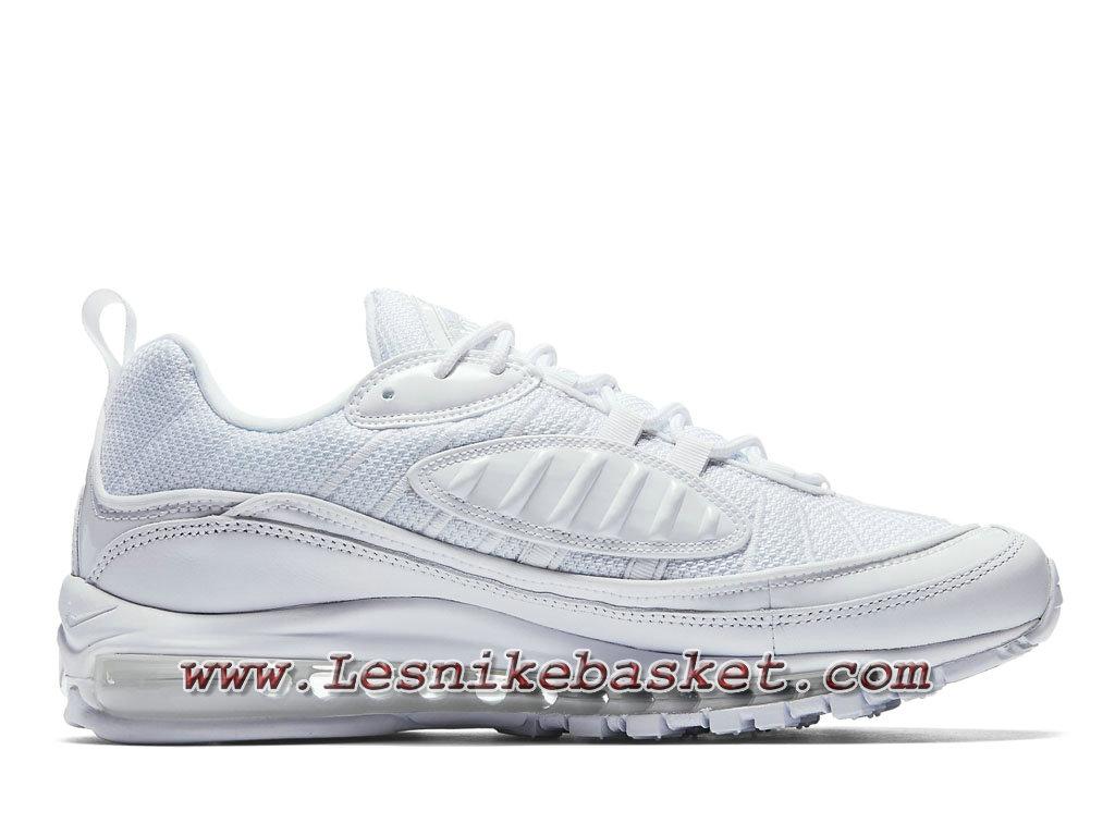... Nike Air Max 98 Pure Platinum 640744_106 Chaussures Nike Sporewear Pas cher Pour Homme Blanc ...