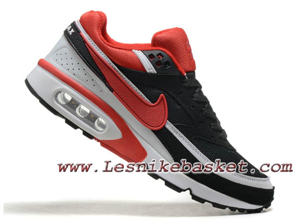 the latest 7b75f e6eec ... Nike Air Max BW Chaussures Officiel Nike Prix pour Homme Noir/Rouge /Blanc