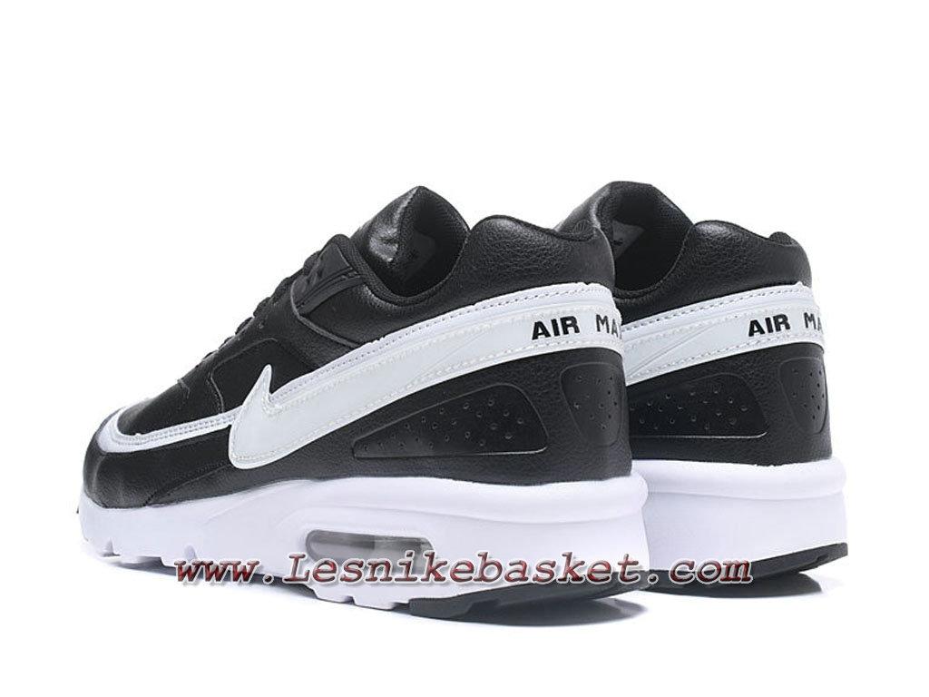newest 55dff 574eb ... Nike Air Max BW Chaussures Officiel NIke prix pour Homme Noires Blanc
