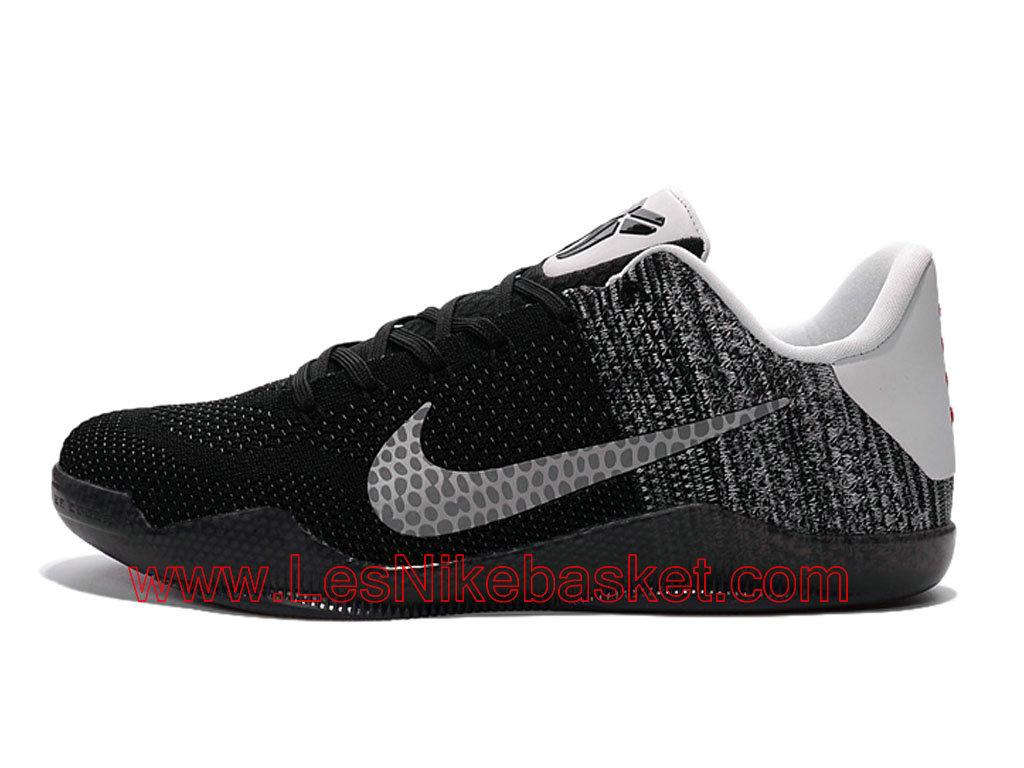 meet fc9ed 58df1 Nike kobe 11 elite low Chaussures Nike Basket Pour Homme Noir Gris  822675-ID4 ...