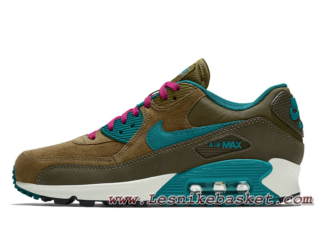 buy popular 534ad 96585 Nike WMNS Air Max 90 LTR Dark Loden 768887 300 Chausport Nike pirx Pour  Femme Enfant