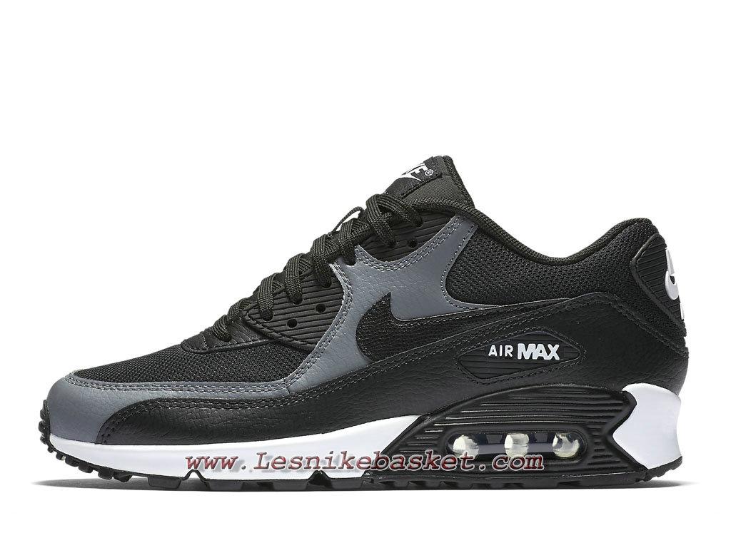 af96fdbb3f832 Nike Wmns Air Max 90 Noir Gris 325213 037 Chaussures Nike pas cher Pour  Femme  ...