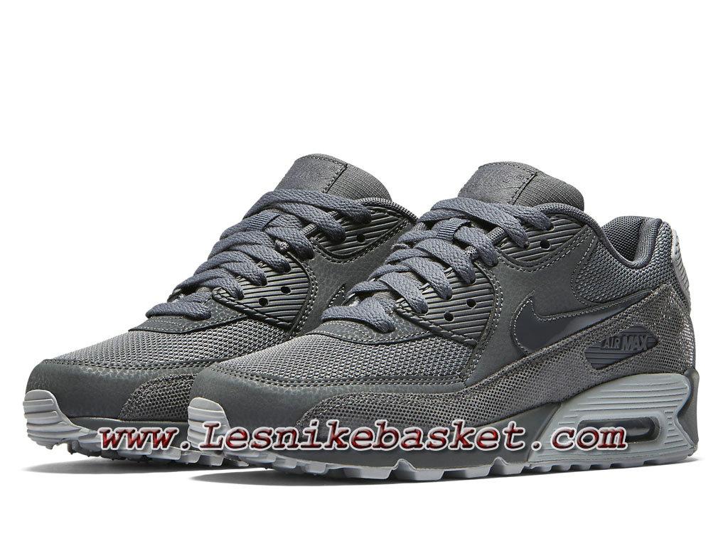 Nike Wmns Air 004 Max 90 Premium Gris 443817 004 Air Chausport Officiel bf1c91