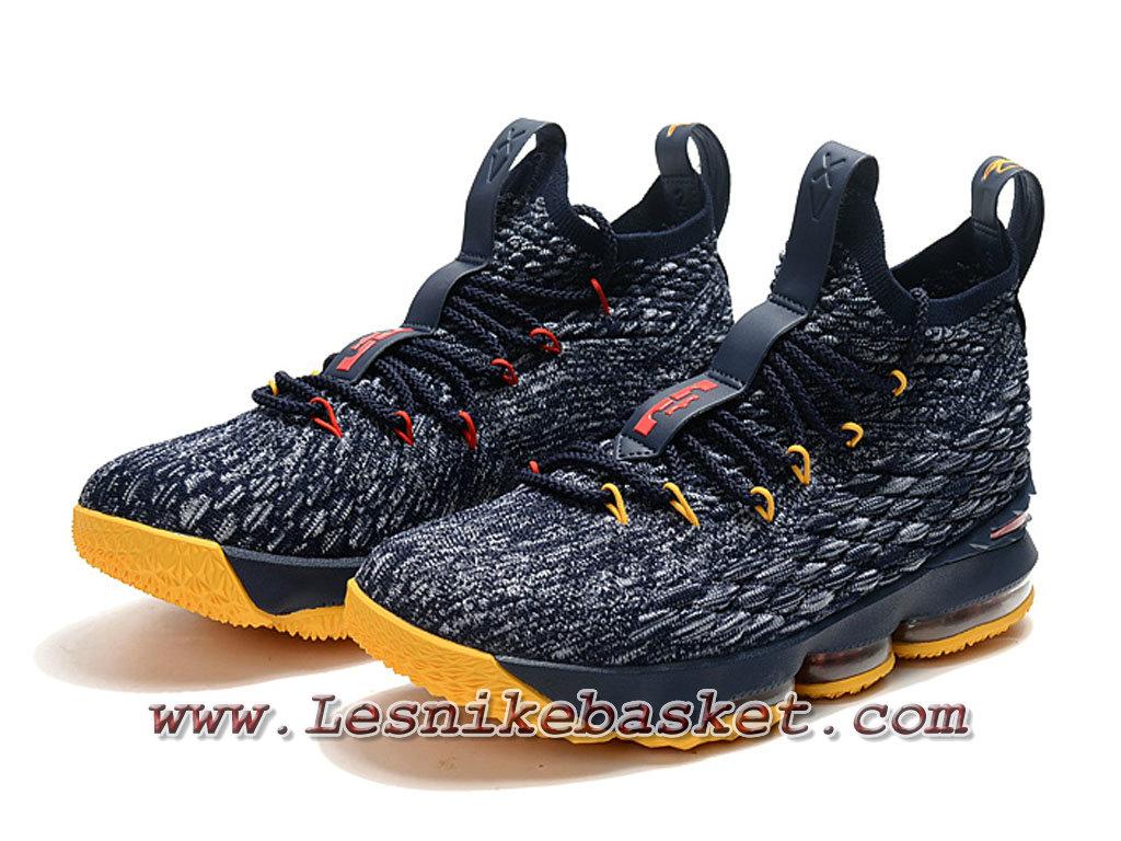new concept 46d00 9992f ... Nike Wmns LeBron 15 Jaune Gris F897648_ID3 Chaussure Officiel Nike  Lebron Pour Femme/Enfant ...
