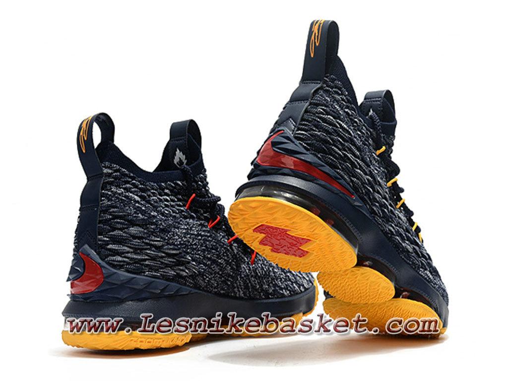 info for 2471c f837a ... Nike Wmns LeBron 15 Jaune Gris F897648_ID3 Chaussure Officiel Nike  Lebron Pour Femme/Enfant