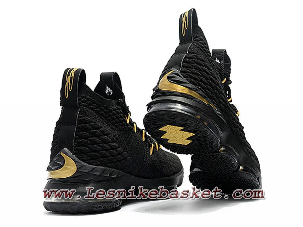 Nike Wmns LeBron 15 ID76 noires Gold F897648 ID76 15 Chaussure Nike Lebron ec840a