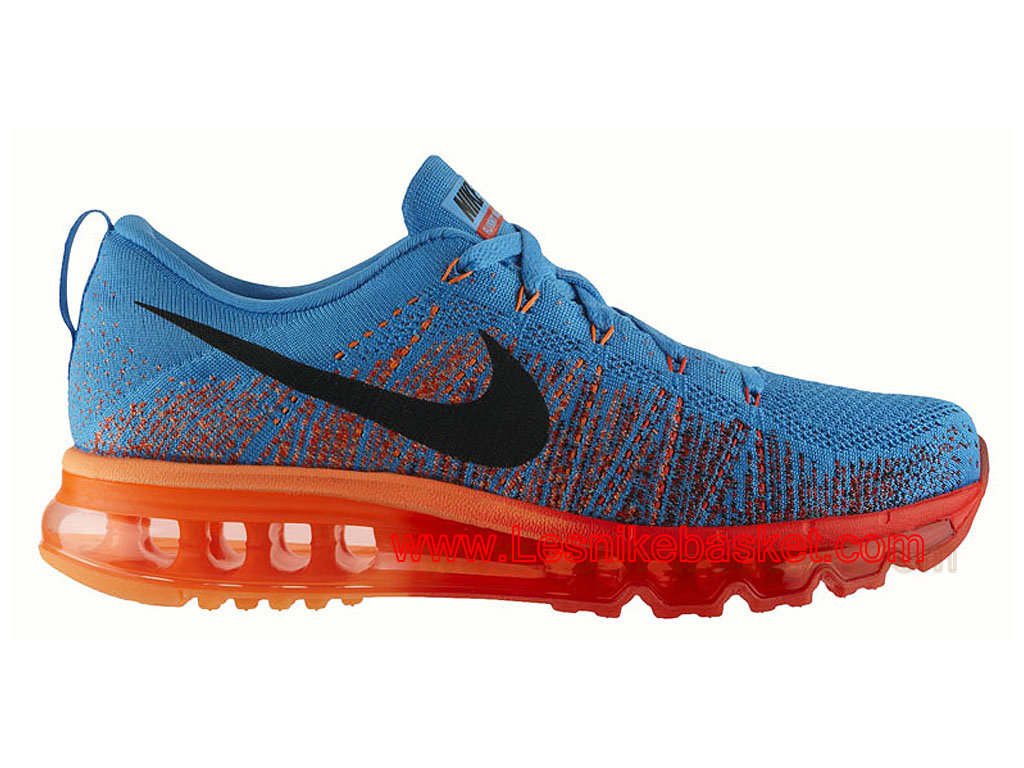 Running HOmme Nike Flyknit Air Max Vivid Blue Atomic Orange 620469 406 Basket Nike 1603092234 Les Nike Sneaker Officiel site En France