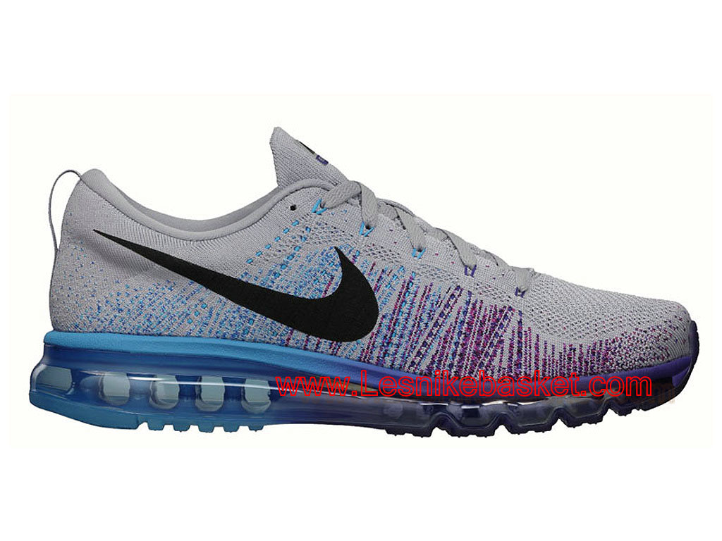Running HOmme Nike Flyknit Air Max Wolf Grey Vivid Blue 620469 005 Officiel basket 1603092232 Les Nike Sneaker Officiel site En France