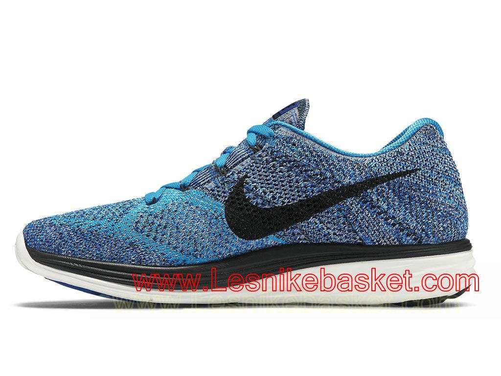 ... Running Homme Nike Flyknit Lunar3 Bleu Black 698181_402 ...