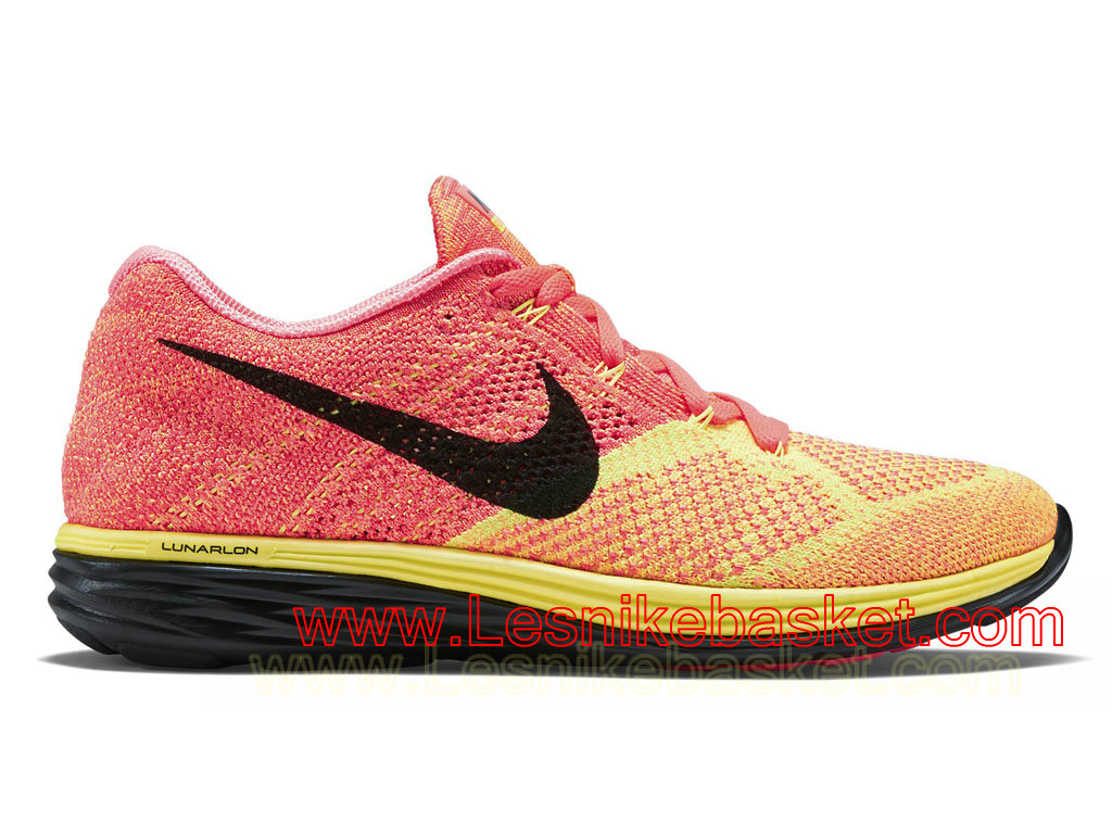 Nike Flyknit Lunar 3 Ghost Green Black Hot Lava Chaussures