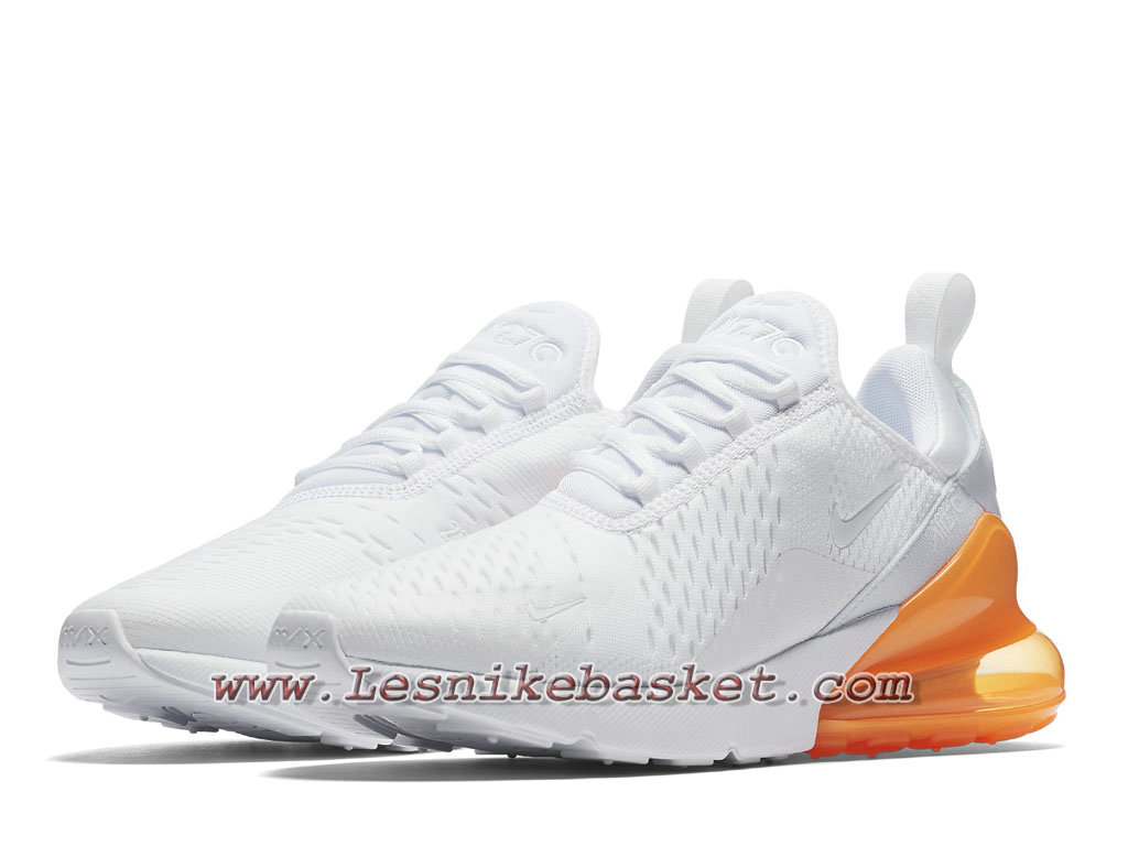 newest a2595 fcd09 ... Running Nike Air Max 270 white-total orange AH8050 102 Chaussures Nike  Prix Pour Homme Blanc ...