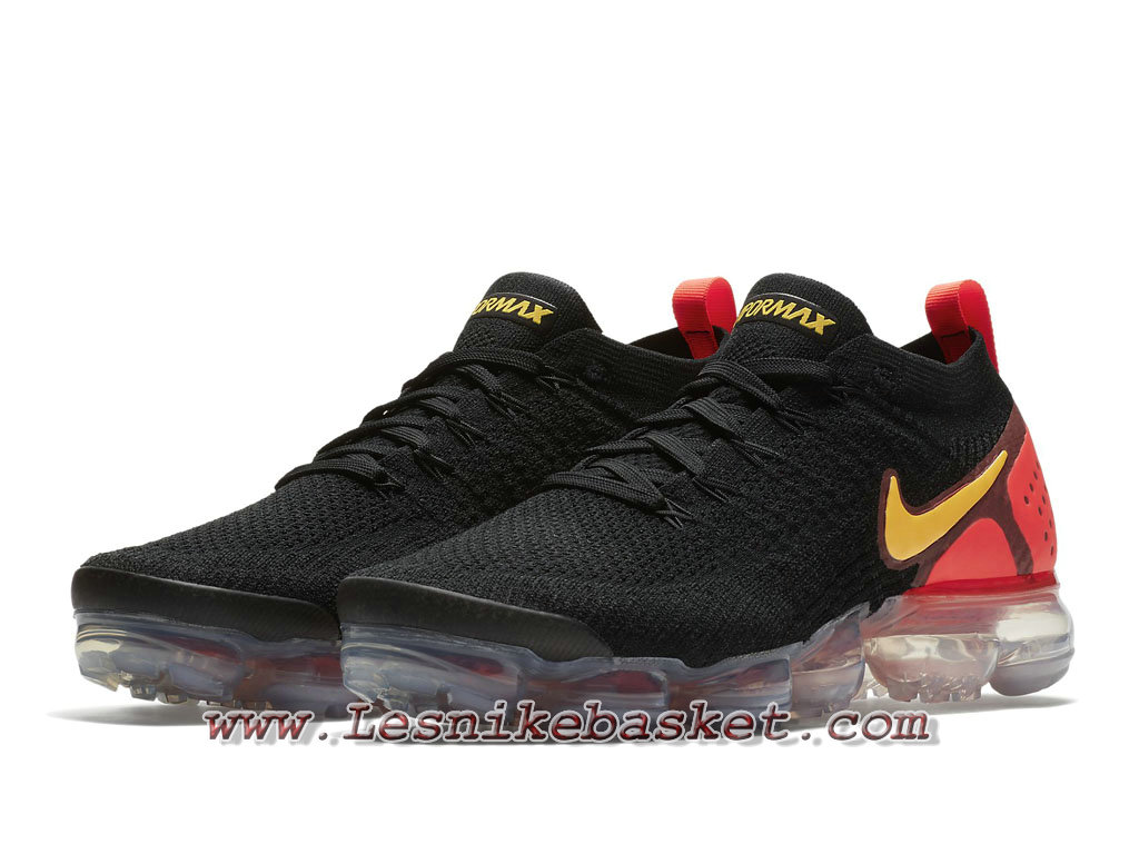 ... Running Nike Air VaporMax Flyknit 2.0 Black Red Yellow 942842_005 Chaussures Nike 2018 Pour HOmme ...