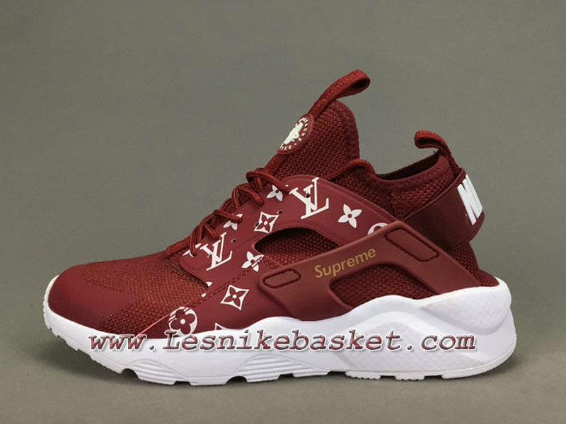 quality design 2aed7 0261f Running X LV Supreme Nike air Huarache Ultra Red Chaussures Urh X Supreme  Pour Homme ...
