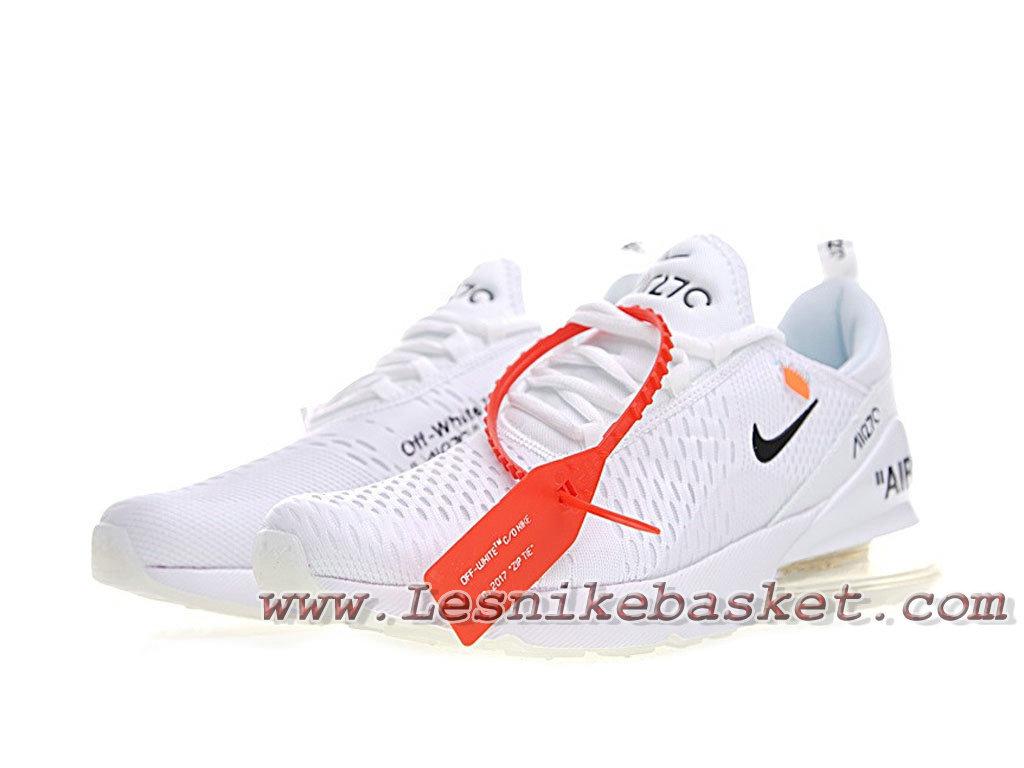 White Off X Nike Air Max 270 White Bule AH8050_100 Chaussurse Nike 2018 Pour Homme Blanc 1803293717 Les Nike Sneaker Officiel site En France