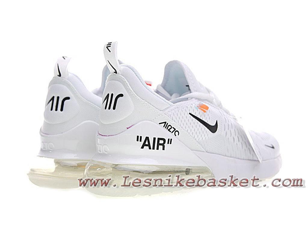 ... White Off X Nike Air Max 270 White Bule AH8050_100F Chaussures Nike pas cher Pour femme