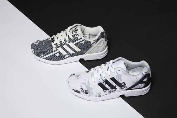bas prix 5c133 d4b9c zx flux blanche et noir,achat / vente chaussures baskets zx ...